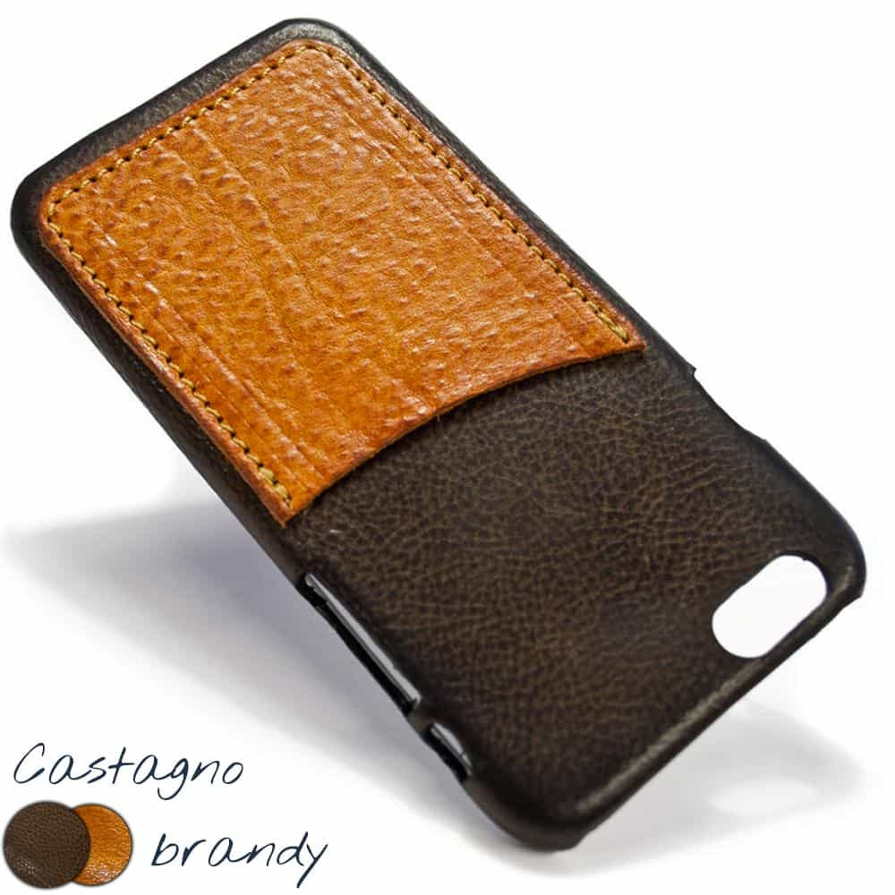 iPhone 6 Leather Back Case, Castagno and Brandy Squared, by Nicola Meyer