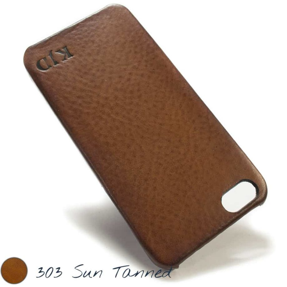 iPhone SE Leather Back Case, Sun Tunned, by Nicola Meyer
