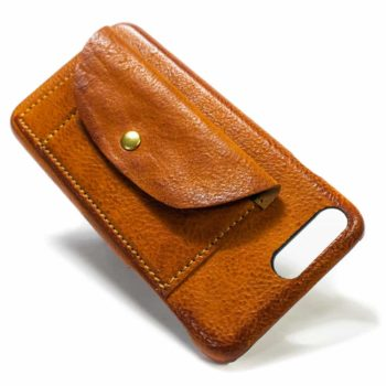 iPhone 7 Plus Leather Case Flap, Brandy, by Nicola Meyer