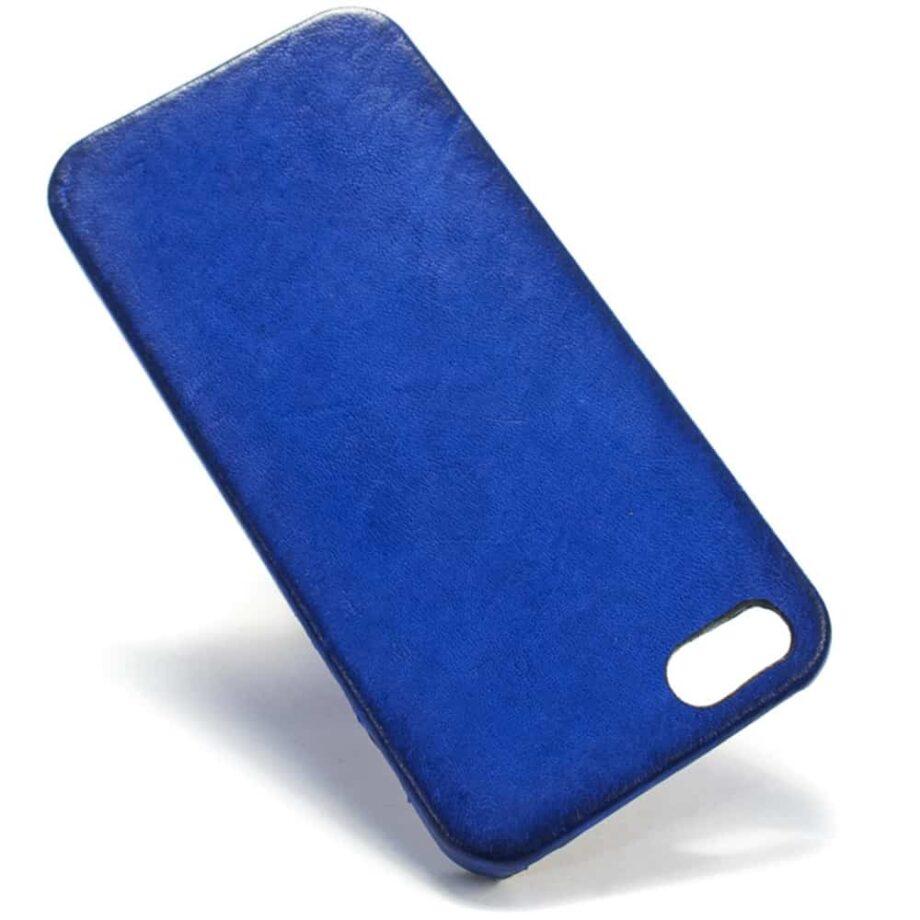 iPhone SE Leather Case, Blue Klein, by Nicola Meyer