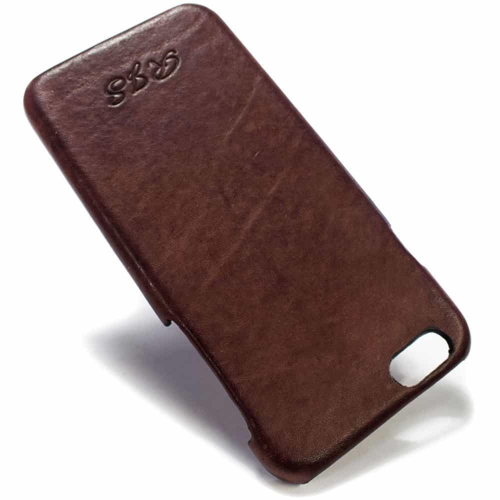iPhone 6 Leather Back Case, Prugna Engraved, Handmade Nicola Meyer