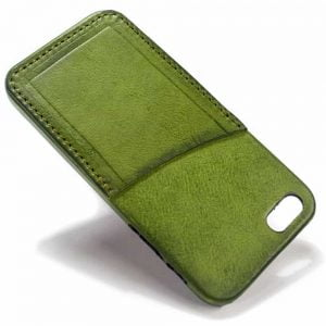 iPhone SE and 5s Leather Back Case, Olivegreen, by Nicola Meyer