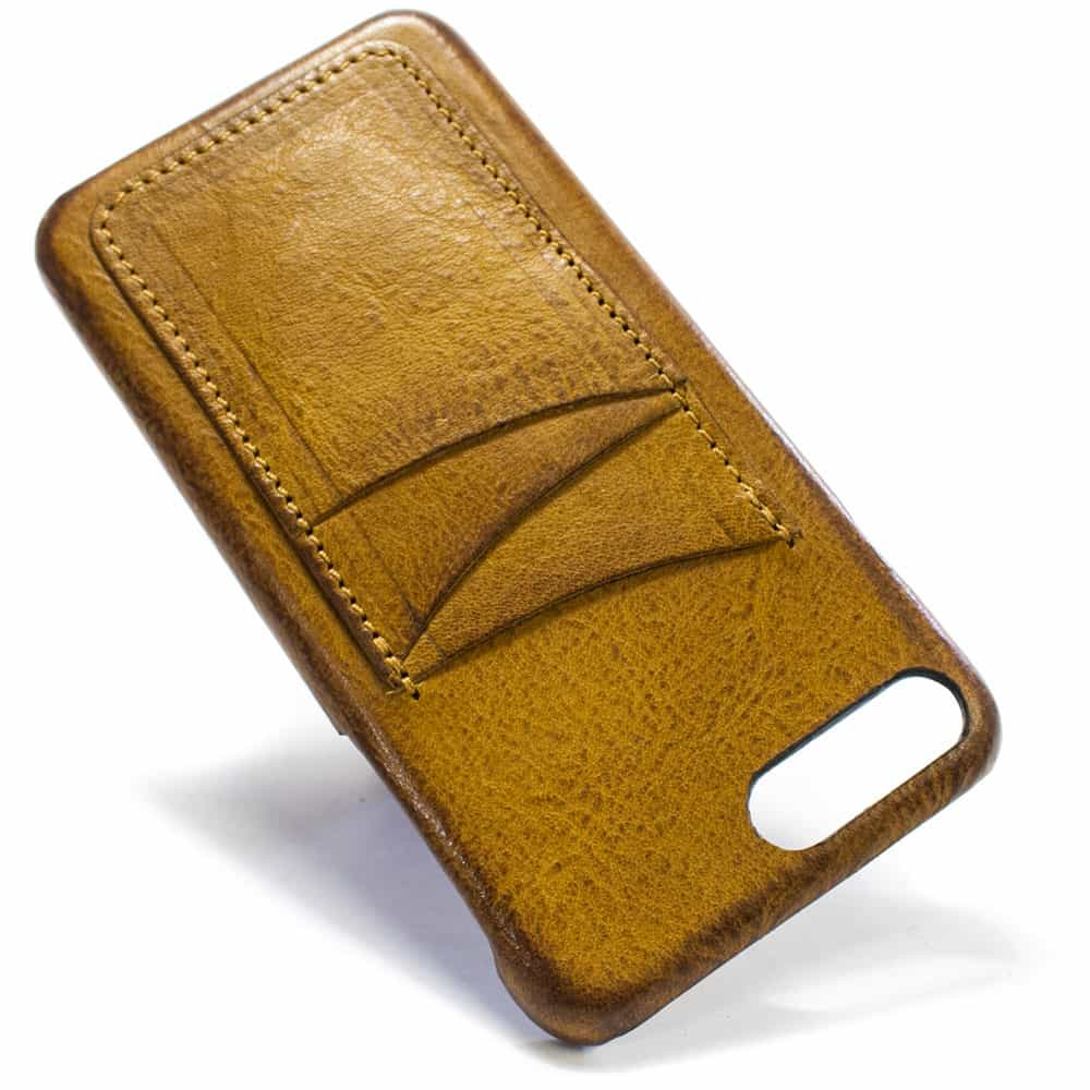 Ip7plus 13 V Camel Leather Back Case Wallet Nicola Meyer