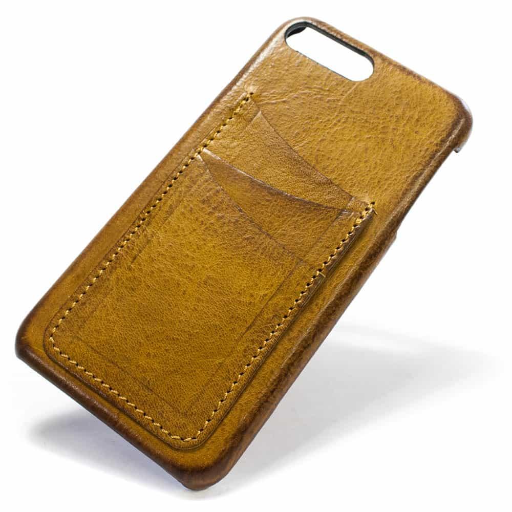 Ip7plus 13 V Camel Leather Back Case Wallet Nicola Meyer 02