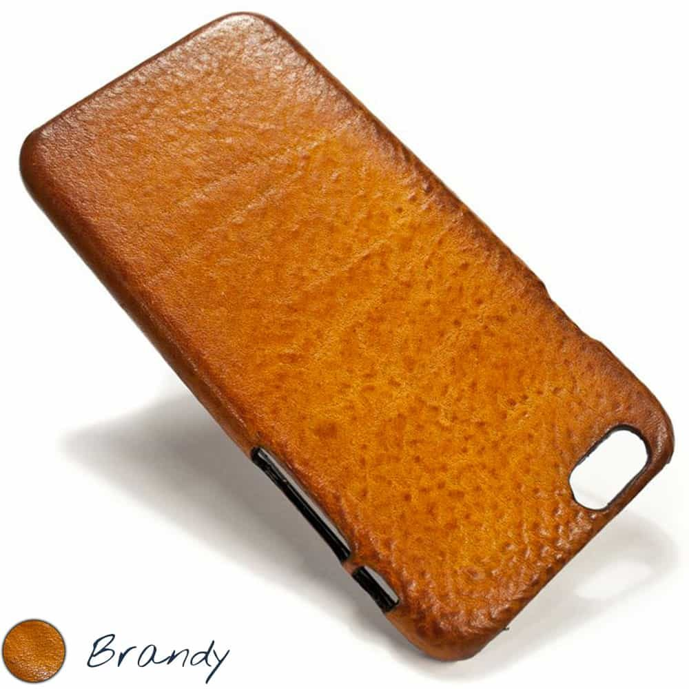 iPhone 6 Leather Back Case, Brandy, Handmade by Nicola Meyer