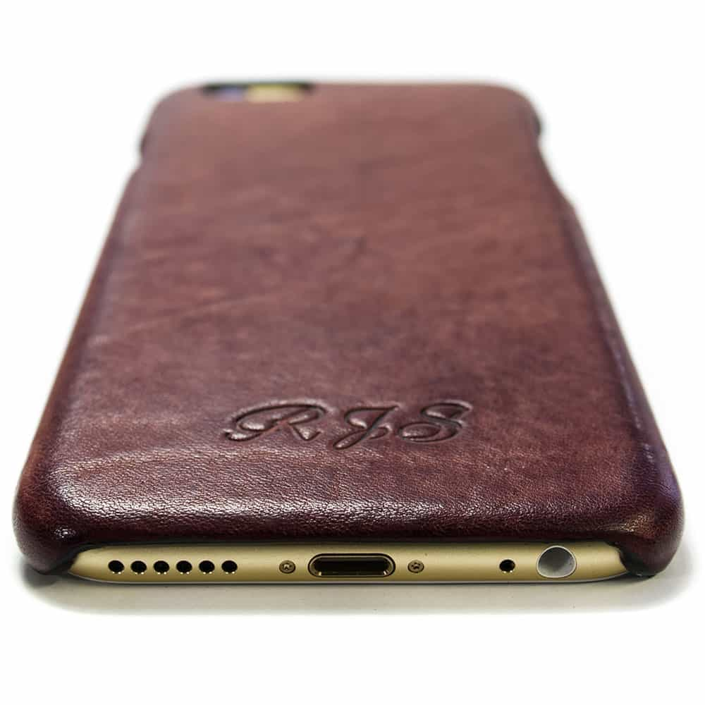 iPhone 6 Leather Case Prugna Engraved, by Nicola Meyer