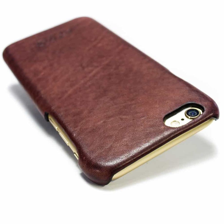 iPhone 6 Leather Case Prugna Engraved, Handmade by Nicola Meyer