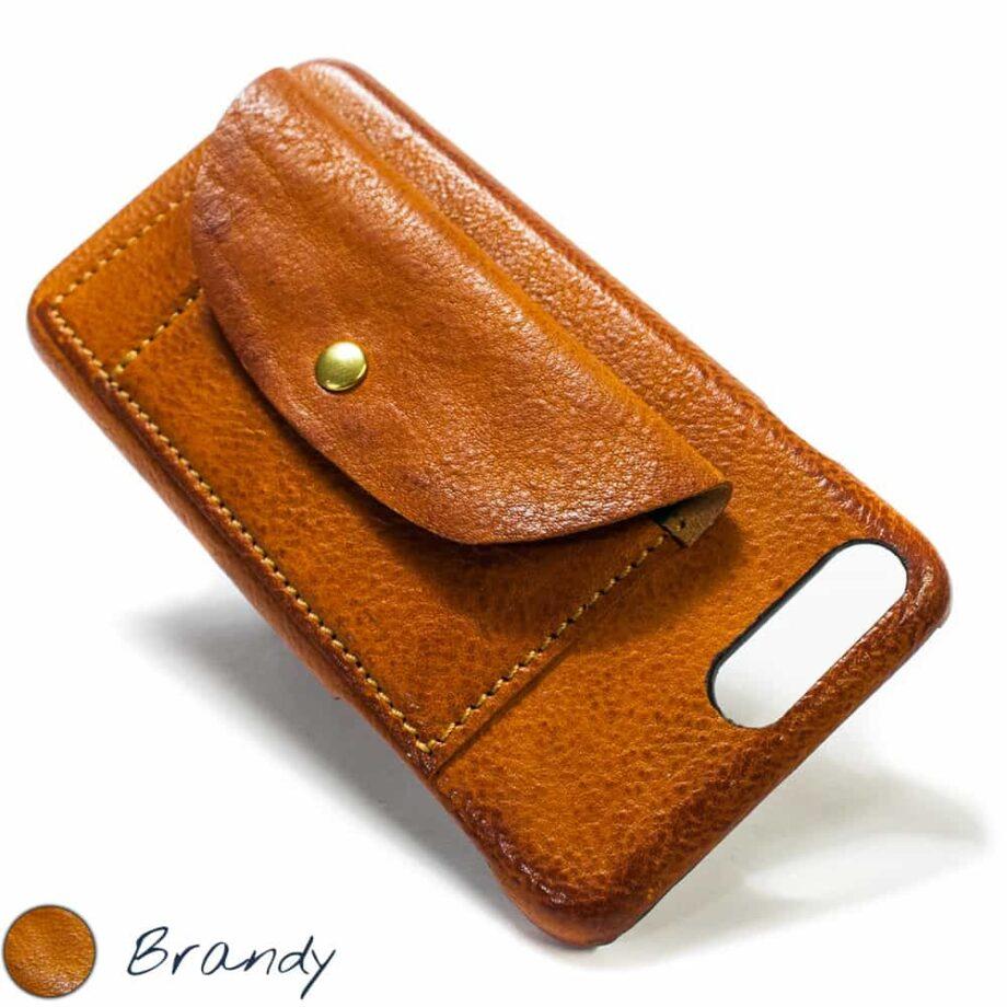 iPhone  7  Plus Etui en cuir à rabat, Brandy, par Nicola Meyer