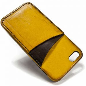 Simple Iphone Se Leather Back Case Double Colors Two Cards Slot