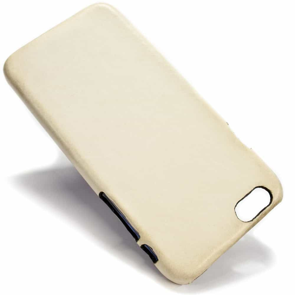 iPhone 6 Plus Leather Back Case, Dusty White, by Nicola Meyer