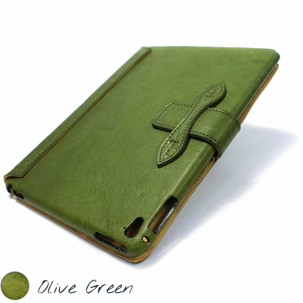 Ipad Pro 9,7 Leather Cover, Olive Green, by Nicola Meyer