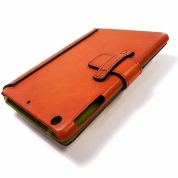 iPad mini 4 Leather Cover, Red, Handmade in Italy