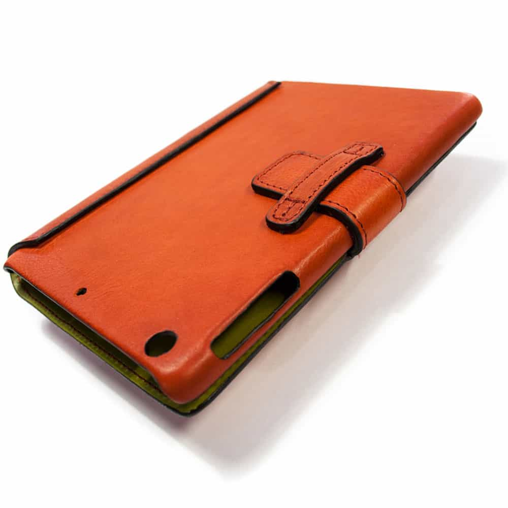 Cc Ipad Mini 4 Leather Cover Red Handmade In Italy