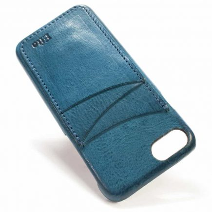 iPhone 7 Leather Back Case, Ortensia, 3 Vertical Slots, Handmade by Nicola Meyer