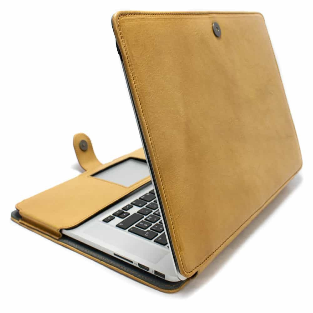 Macbook Leather Case, Natural, Handmade by Nicola Meyer