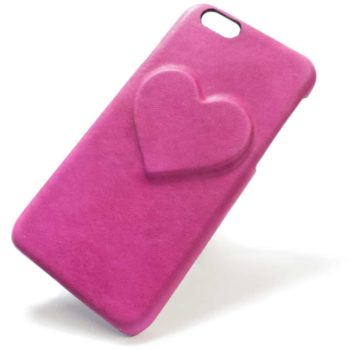 iPhone 6 Leather Back Case, Heart, Fucsia, by Nicola Meyer