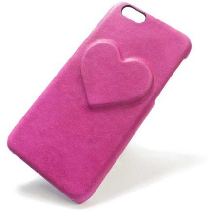 iPhone 6 - Étui en cuir, coeur, Fucsia, par Nicola Meyer