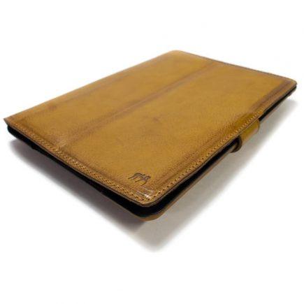 iPad Leather Case, Camel, Made in Italy