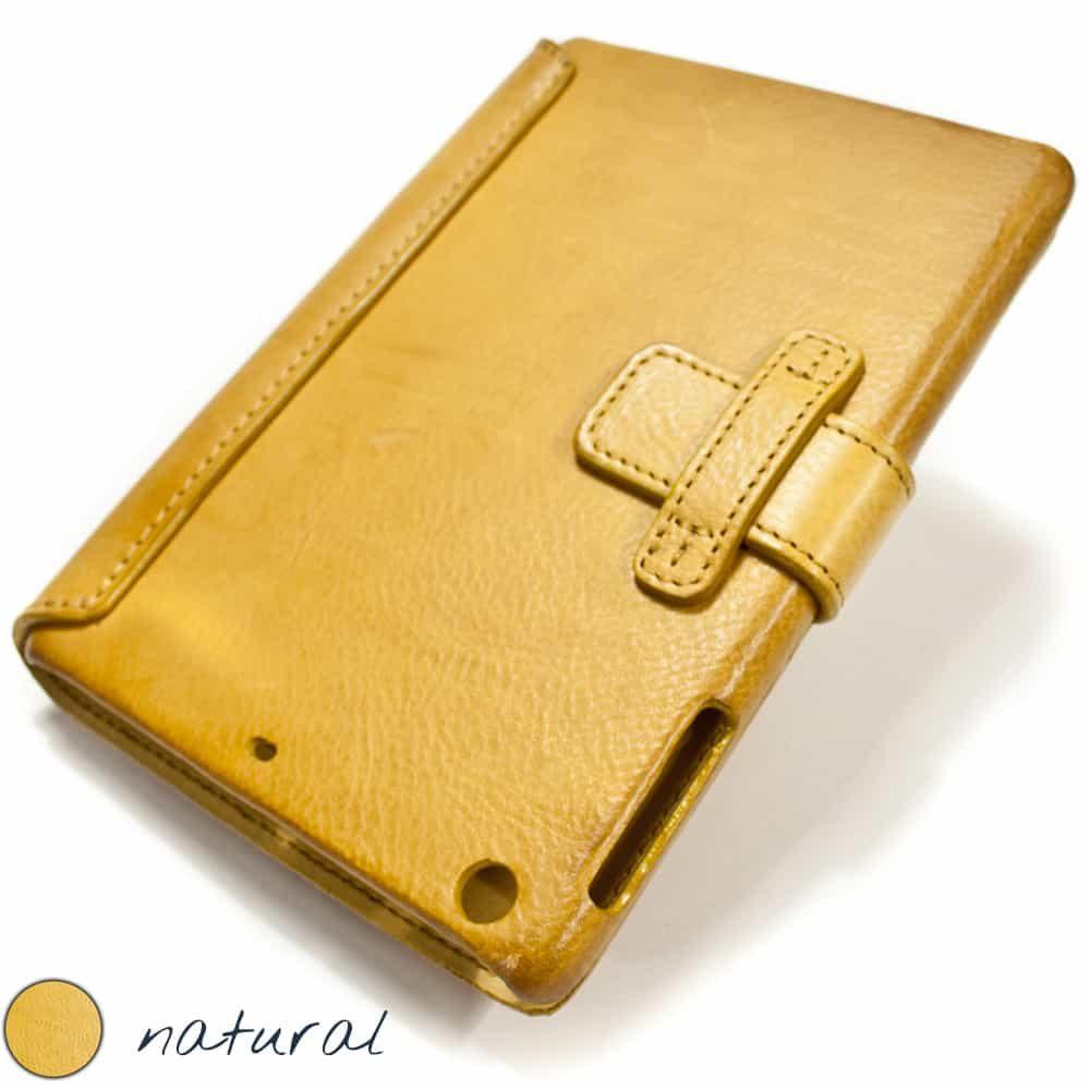 iPad mini 4 Leather Cover, Natural, Close