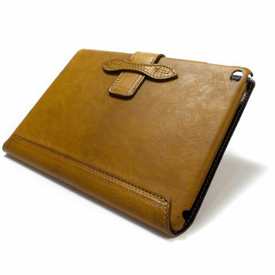 iPad Leather Case, Camel by Italian Leathersmith Nicola Meyer