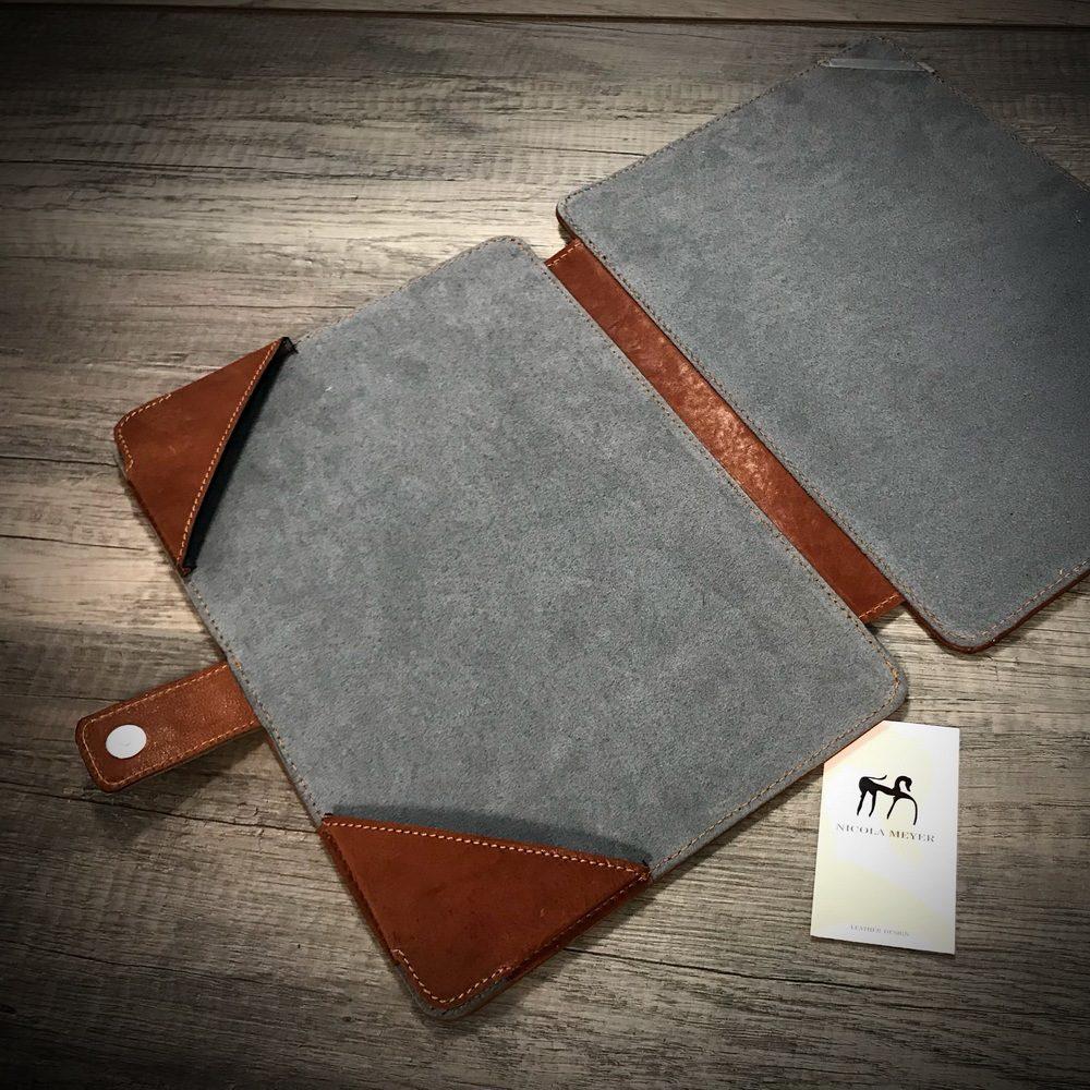 Sq Macbook 13 Leather Portfolio Case Nicola Meyer