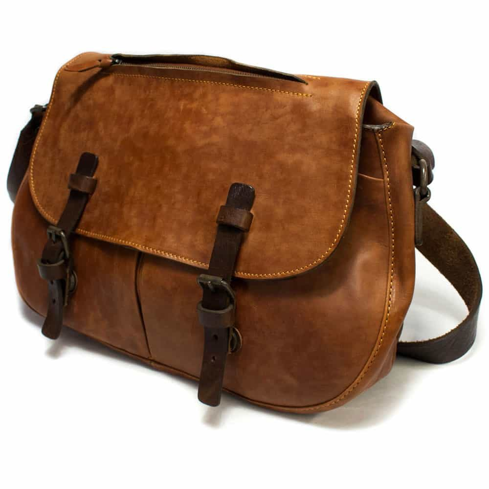 Leather Bag, Brown, by Nicola Meyer