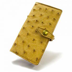 iPhone 7 Leather Case, Ostrich Buttercup, Close