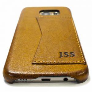Samsung Galaxy S7 EDGE Etui en cuir, Camel, Fabriqué en Italie