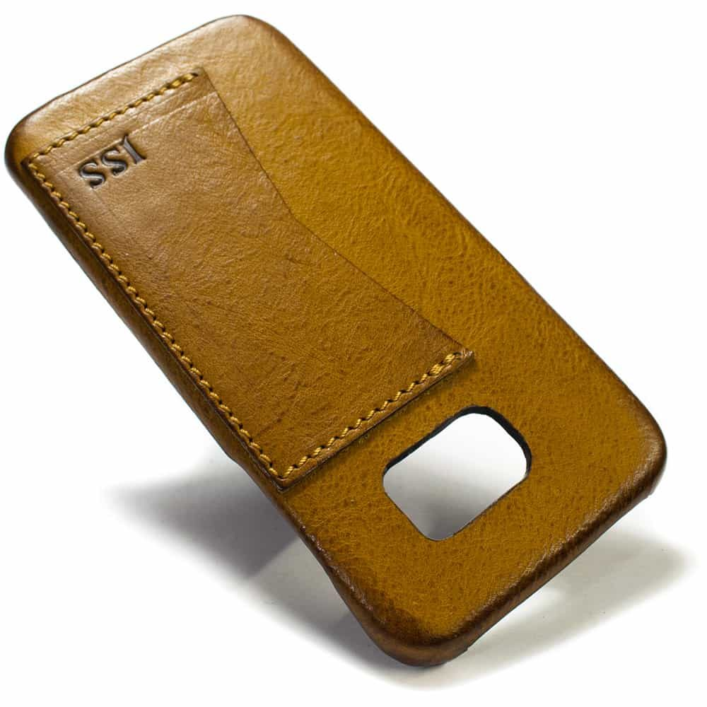 Samsung Galaxy S7 EDGE Leather Case, Camel, by Nicola Meyer