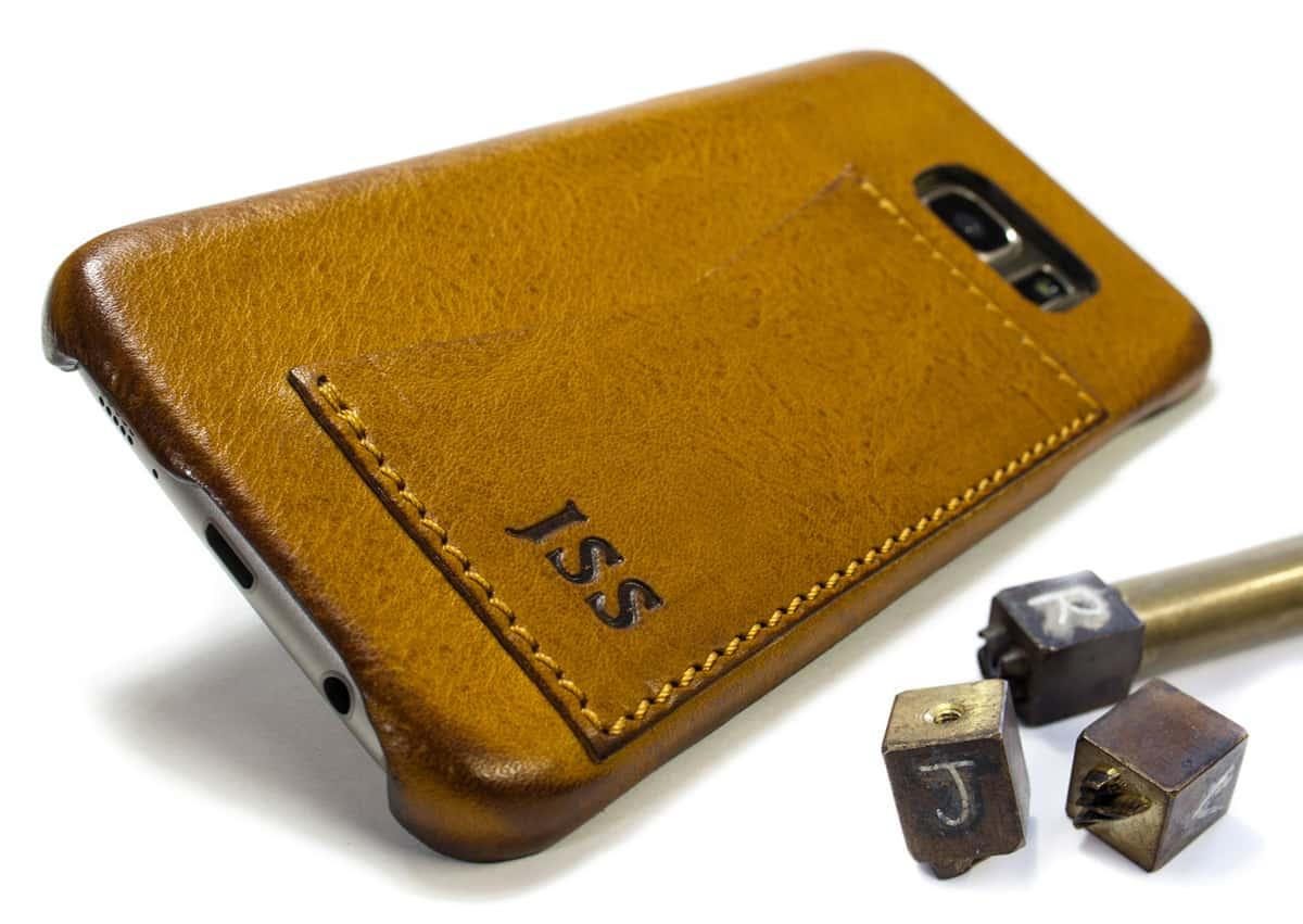 Samsung Galaxy S7 EDGE Leather Case, Camel, by Nicola Meyer