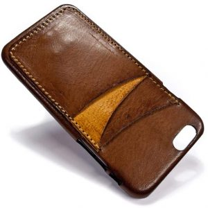 iPhone 6 Leather Back Case, Camel, Three Slots