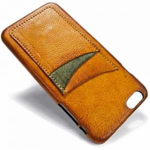 iPhone 6 Plus Leather Back Case, Brandy, Made in Italy