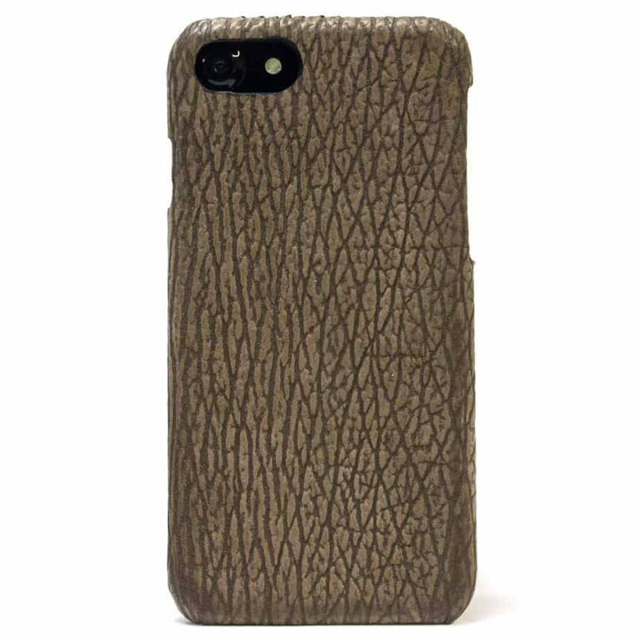 iPhone 7 Leather Back Case, Shark Creme, by Nicola Meyer