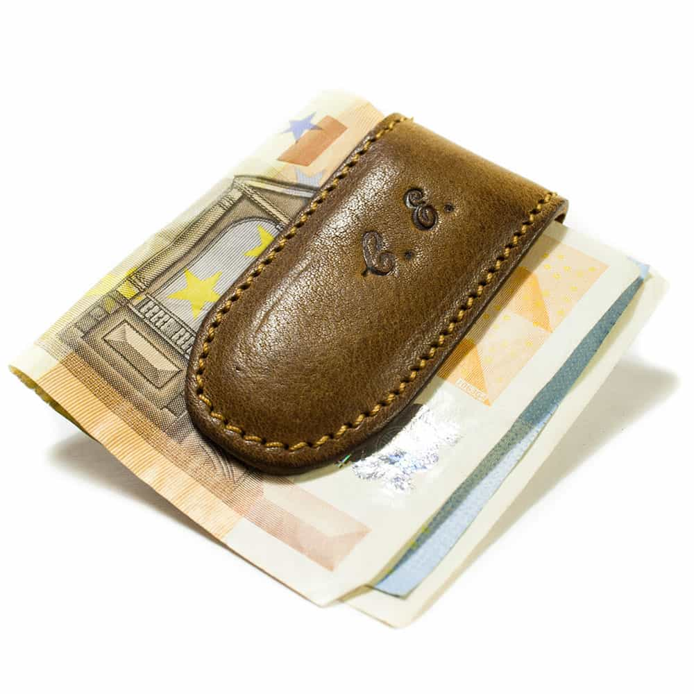 Leather Banknote Magnet, Initials, by Nicola Meyer