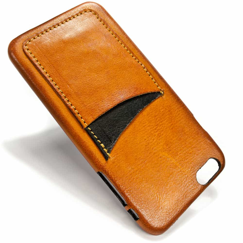 iPhone 6 Plus Leather Back Case, Brandy, Two Slots