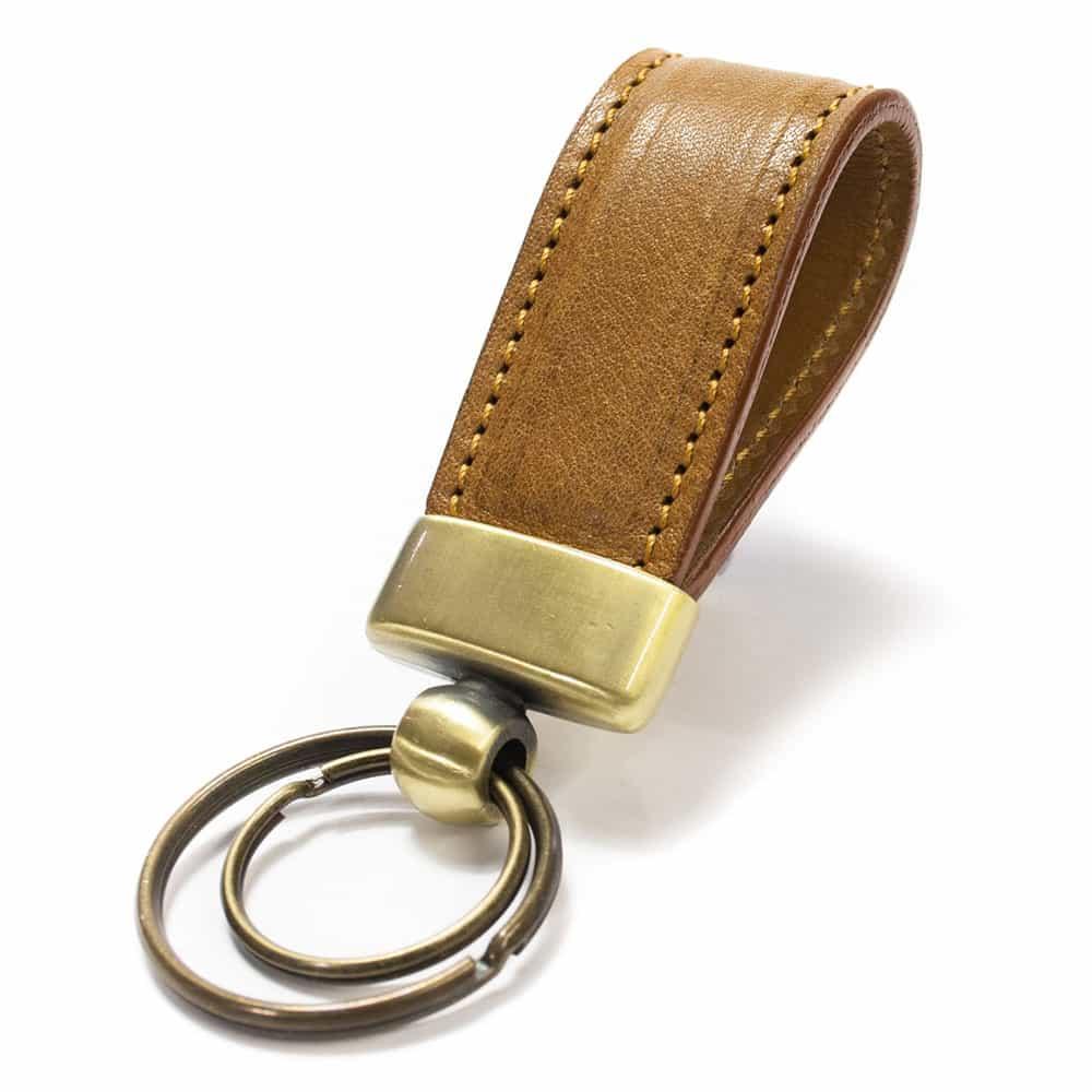 Crw 8193 Str3 Ov Camel Leather Ring Key Nicola Meyer