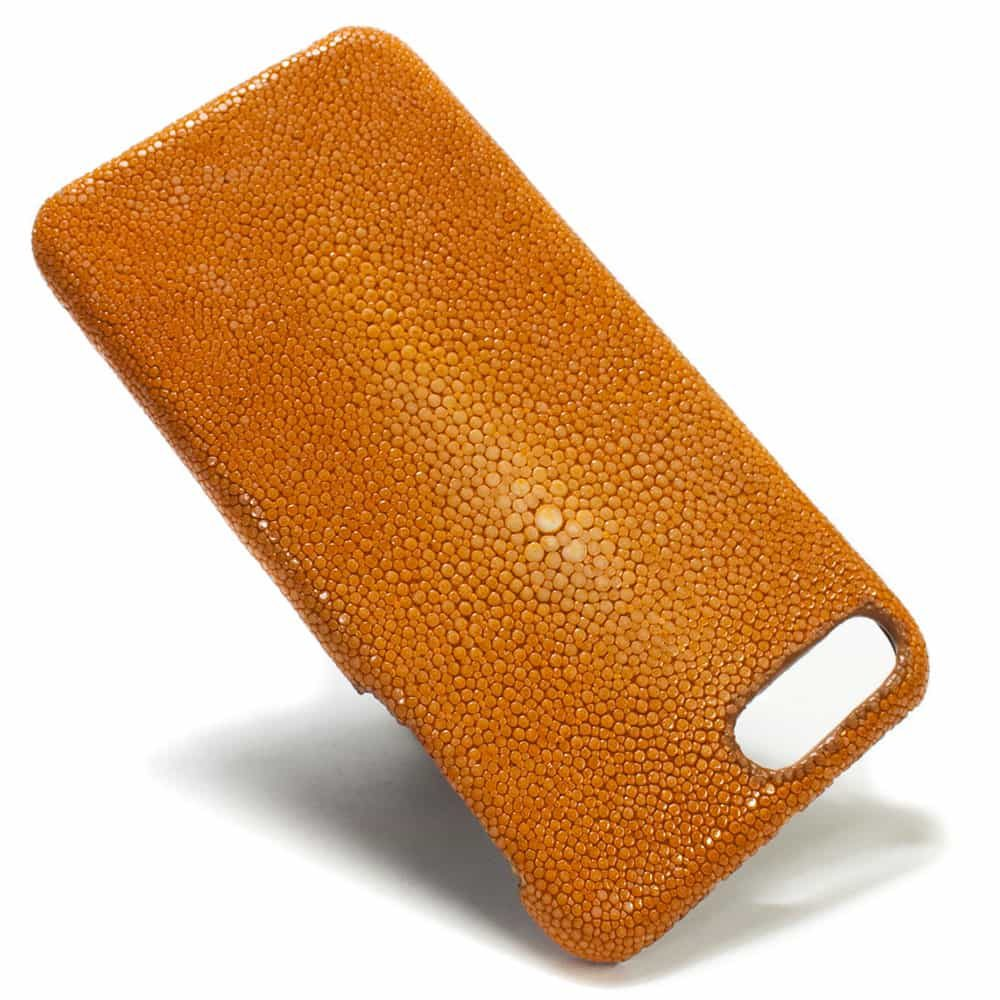 iPhone 7 Plus, Leather Back Case, Stingray Orange
