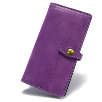 iPhone 6 Plus Leather Bifold Wallet Case, Violet, by Nicola Meyer