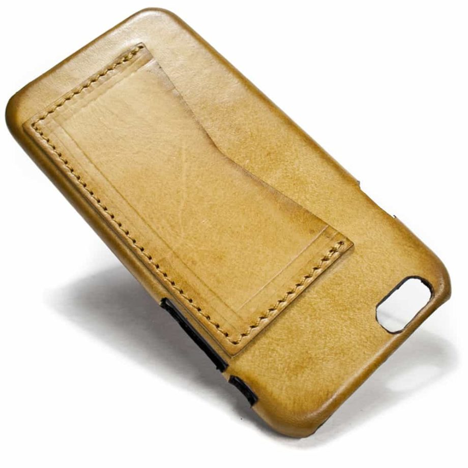 iPhone 6 Back Leather Case, Natural, One Horizontal Slot