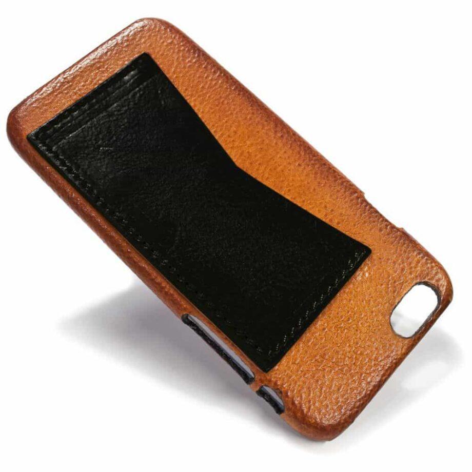iPhone Etui arrière en cuir 6, Brandy et  Black, par Nicola Meyer
