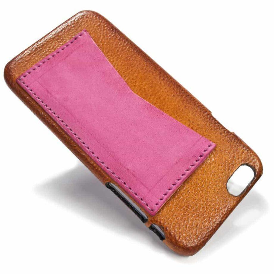 iPhone Etui arrière en cuir 6, Brandy et  Fucsia, par Nicola Meyer