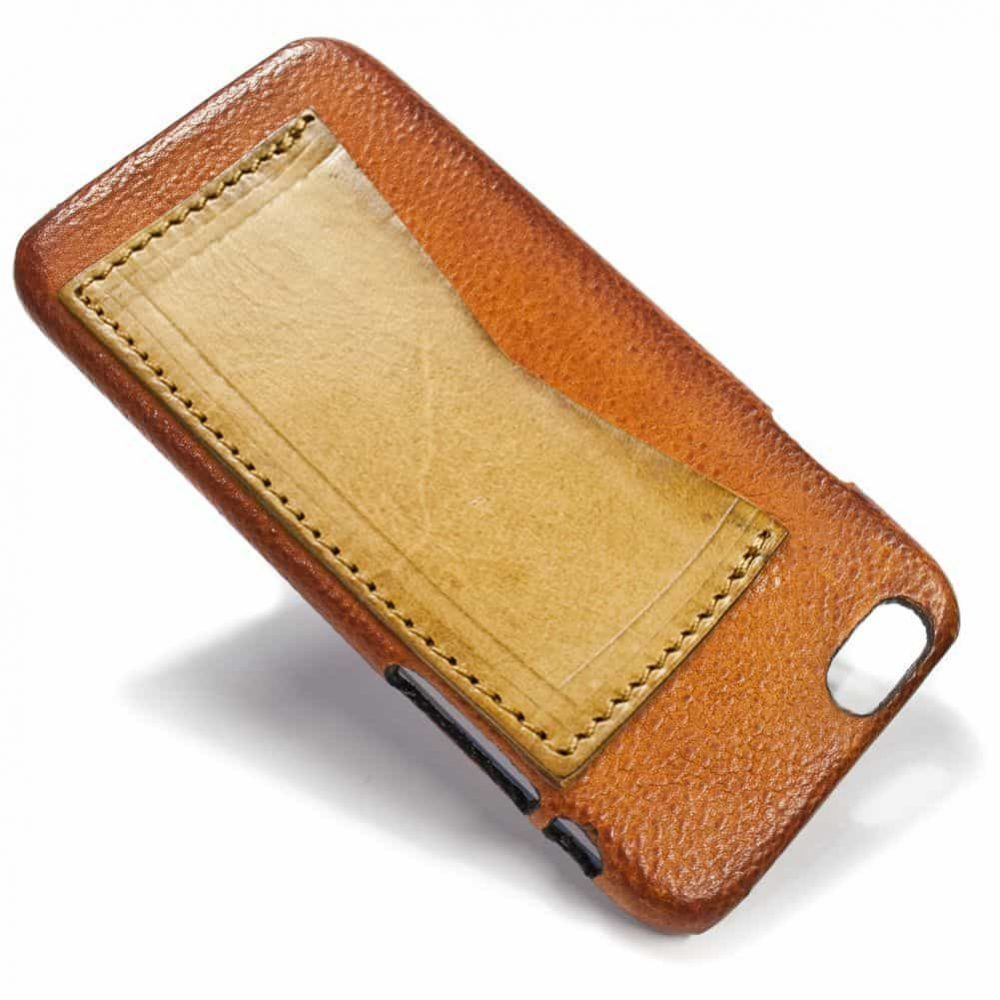 iPhone 6 Leather Back Case, Brandy and Natural, by Nicola Meyer