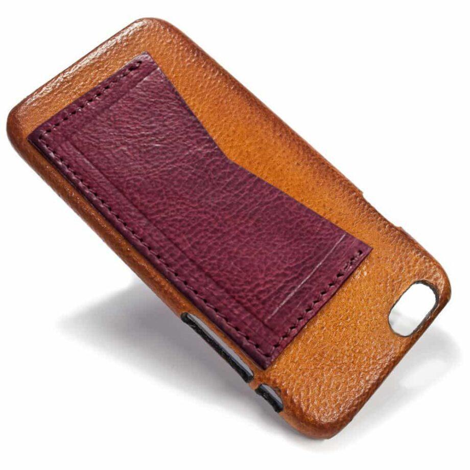 iPhone Etui arrière en cuir 6, Brandy et BOURGOGNE, par Nicola Meyer