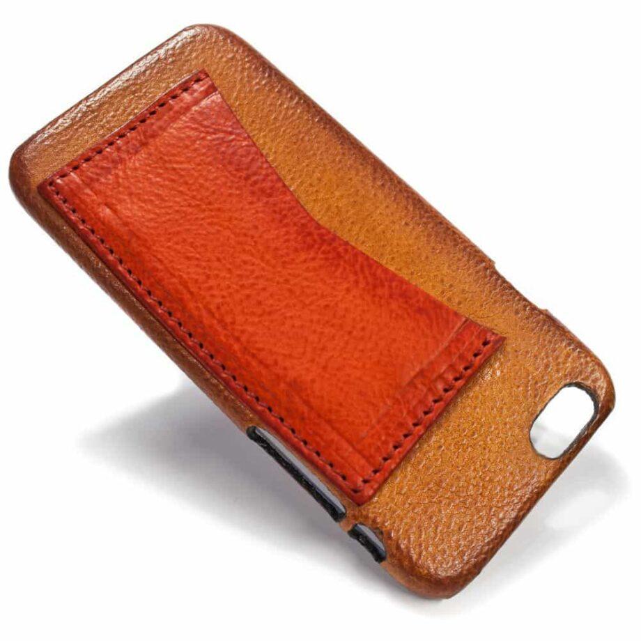 iPhone Etui arrière en cuir 6, Brandy et  Red, par Nicola Meyer
