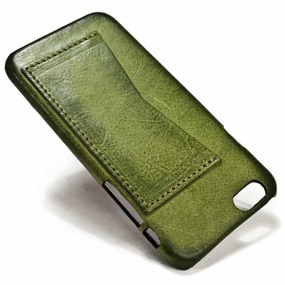 iPhone 6 Leather Back Case, Olivegreen, by Nicola Meyer