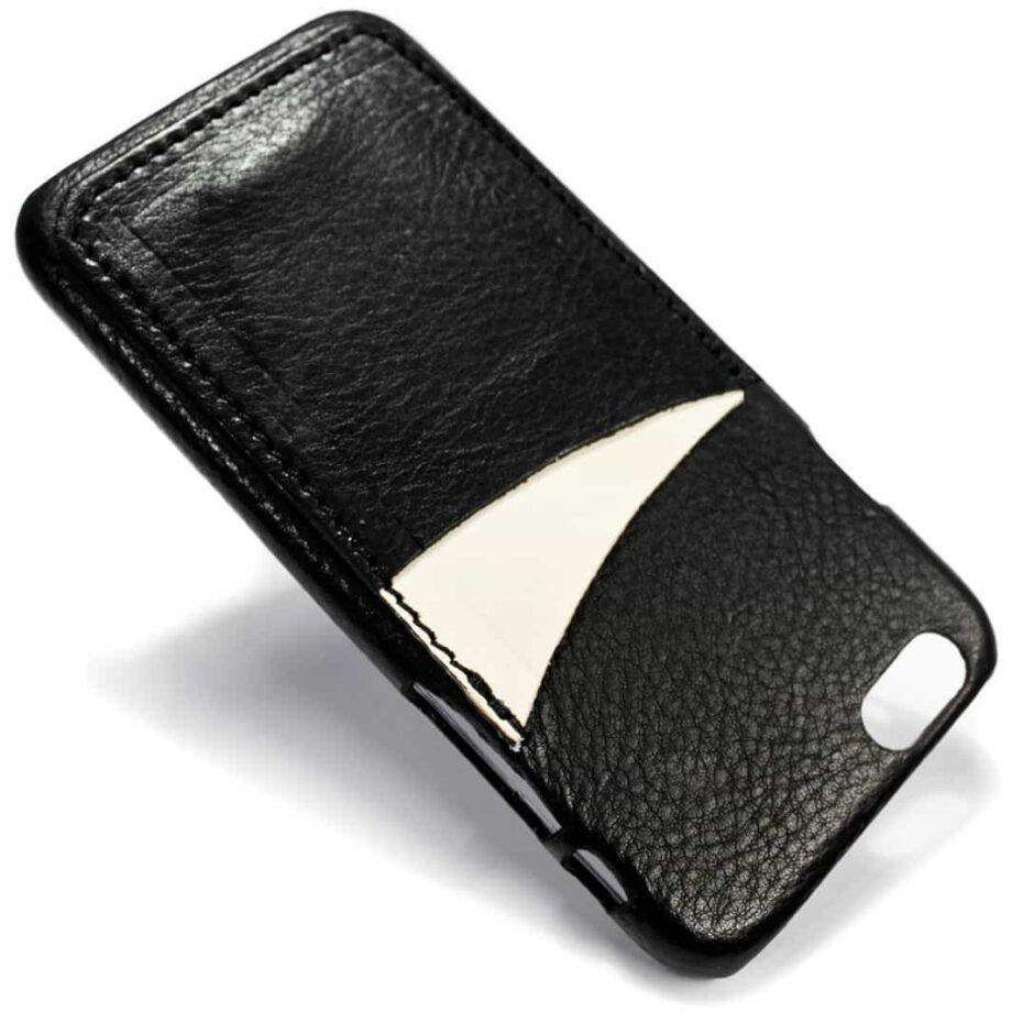 iPhone Etui arrière en cuir 6, Black et Dusty White, de Nicola Meyer