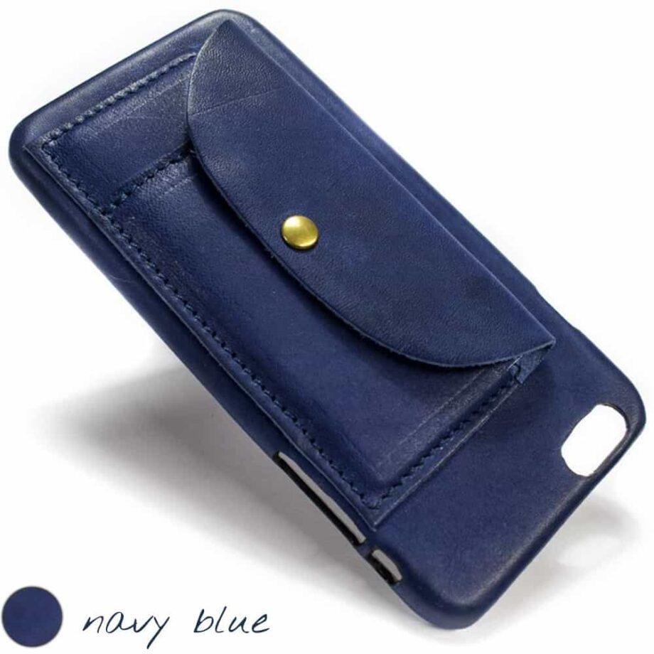 iPhone  6  Plus Étui en cuir, Blue Navy Squared, de Nicola Meyer