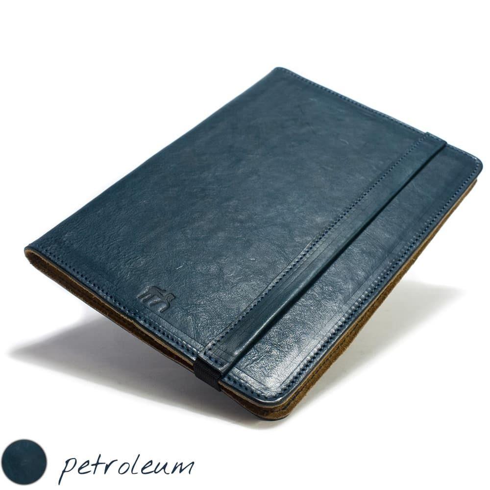 iPad Pro 9,7 Leather Cover Portfolio, Petroleum by Nicola Meyer