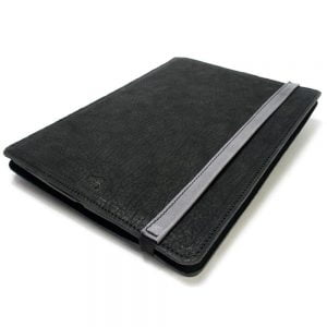 iPad Pro 12,9 Leather Cover Portfolio Charcoal. Light Grey, Close