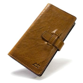 iPhone 7 Plus Leather Flip Book Brown Wallet Case